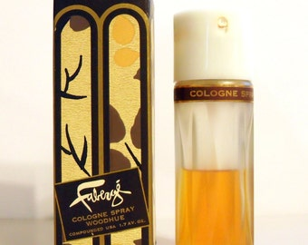 PERFUME Vintage 1960s Woodhue by Faberge 1.7 oz Cologne Spray and Box DISCONTINUED