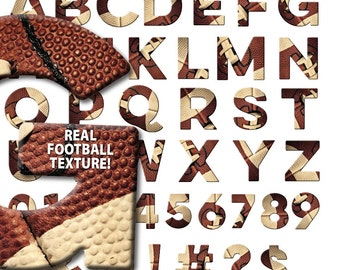 FOOTBALL ALPHABET, font, letters, numbers, symbols, clipart, clip art, abc's, football, american football, alphabet, digital download
