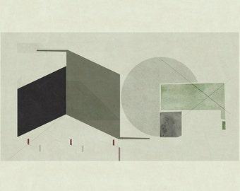 Abstract composition 666 modern art minimalism 60 x 84 for Minimal art venezuela