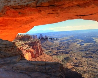 Mesa Arch in Canyonlands National Park in Utah, southwestern, 11 X14 lustre photograph