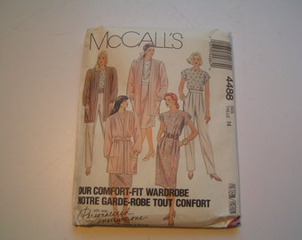 Vintage McCalls Pattern 4488 Miss Cardigan Top Skirt and Pants