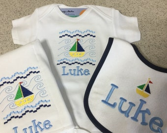Sailboat Set personalized