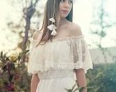 Wedding Dress Bohemian Wedding Dress, Boho Bridal Gown, Long Bridal Gown, Bohemian Dress, Lace Wedding Dress, Boho Wedding Dress, SuzannaM