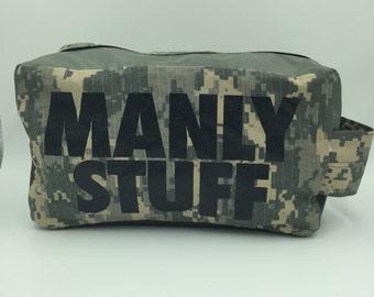 manly stuff camo dopp kit