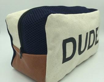 dude blue dopp kit