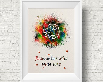The Lion King Simba Quote Watercolor Art Print Wall Art Home Decor Giclee Inspirational Art Home Decor Wall Hanging