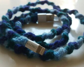 Blue Wooly iPhone 6 Charger