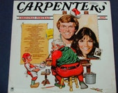 Carpenters Christmas Portrait - Christmas Record - A&M Records Re-Issue 1978 - Vintage Vinyl LP Holiday Record Album