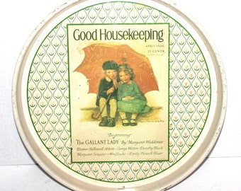 "Vintage 14"" Good Housekeeping Tray, Cheinco,  Antique Alchemy"