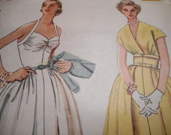 Vintage 1950's Simplicity 4305 Dress and Short Jacket Sewing Pattern Size 12 and 18 available