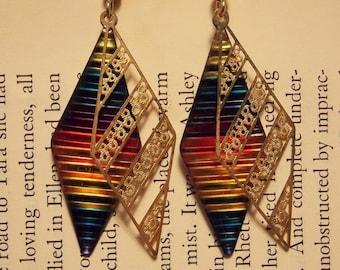 Vintage Rainbow Earrings