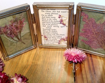 Pretty Poetry Pressed Flower Art