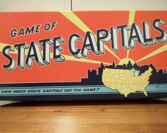 Vintage Parker Brothers GAME of STATE CAPITALS 1952