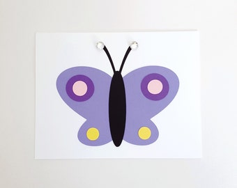 butterfly card kit - makes four folded cards