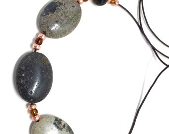 Leland Bluestone Sliding Stone Adjustable Necklace