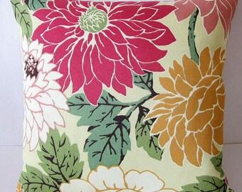 Outdoor Pillows, Floral Pillow Cover, Outdoor Floral Pillow, Outdoor Home Decor, Robert Allen Pillow, Patio Pillows, Decorative Pillows,