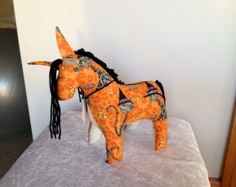 Unicorn - Orange halloween theme fabric