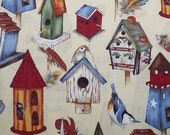 """29 Inches of Quality Quilt Cotton by Phillip de leon for Alexander Henry Fabrics Inc. """" Bird Houses"""""""