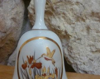 Chokin Hummingbird bell gold trim