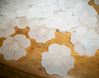 "Frosted Flower Buttons, 1 5/16"", 2 hole, 30 count!"