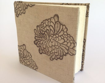 Small Hard Cover Journal, Floral Print