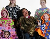 Teen-Adult Wheelchair Poncho Coat Blanket