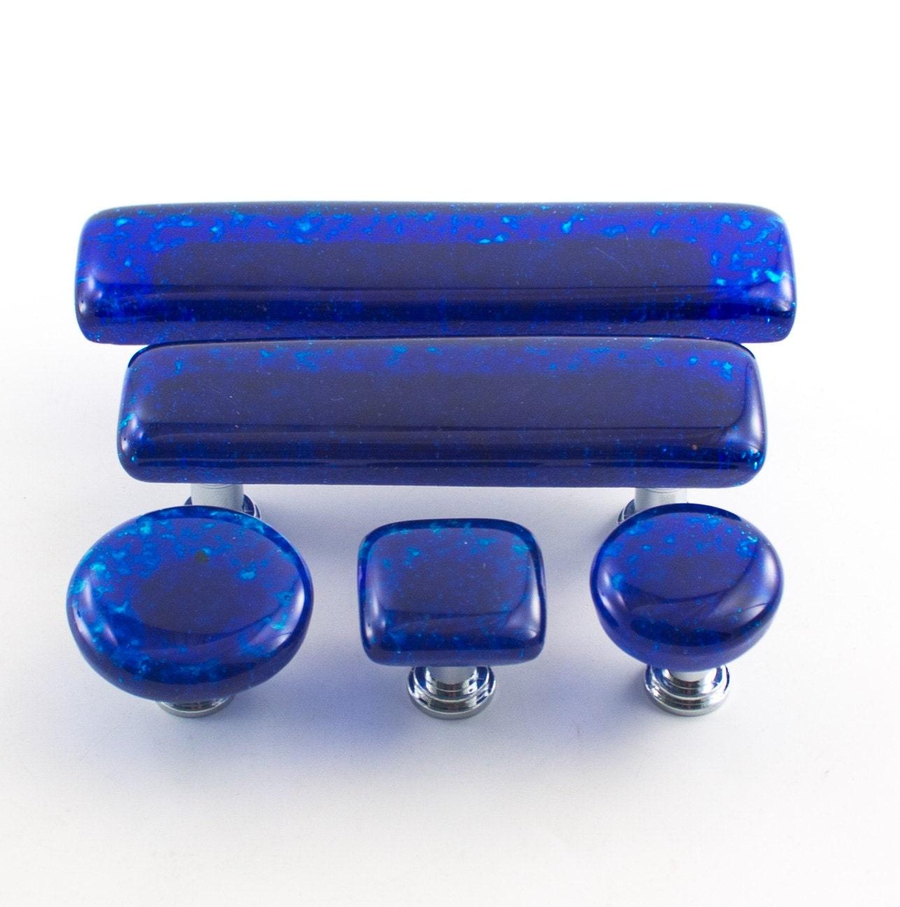 Modern Cabinet Decor, Kitchen Cabinet Handles, Blue Drawer Pulls ...