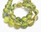 20pc 10mm Round Shape Millefiori Glass Beads-9854L