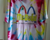 Vintage 90s DEADHEAD TIE DYE T Shirt sz L
