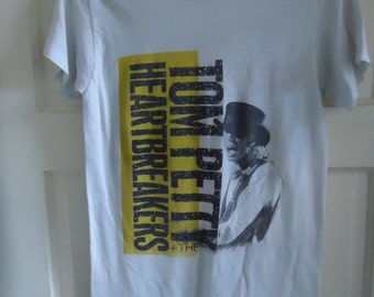 Vintage 80s TOM PETTY and the Heartbreakers Tour T Shirt sz XS