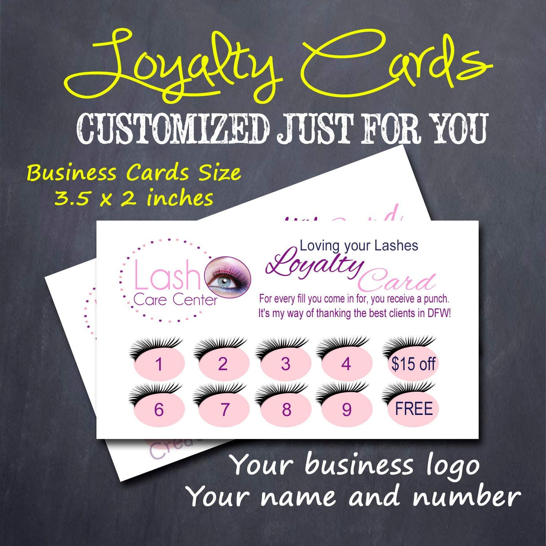 customer loyalty cards eyelash extensions customized order set