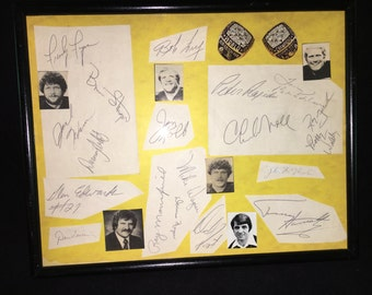 Pittsburgh Steelers Championship Autographs, NFL 1978 Terry Bradshaw and the entire team