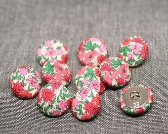 Liberty of London Petal and Bud Fabric Covered Buttons