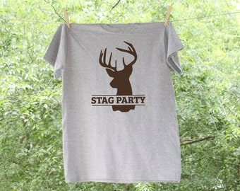Stag Bachelor Party Shirt with Customized Name and Date - TE