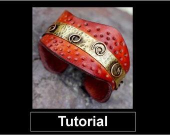Tutorial - Leather Cuff - Karen J Lauseng - Beginner