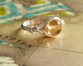 Citrine Ring, Bridesmaid Jewelry, Orange Stone Ring, Argentium Silver Ring, Sterling Silver Jewelry