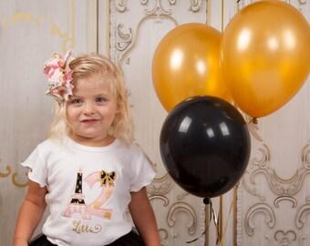 Eiffel Tower Shirt, Eiffel Tower Birthday Shirt, Paris Birthday, Girl Birthday Shirt, Birthday Shirt, French Birthdayy, Pink Birthday