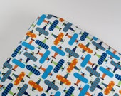 Standard, Mini, Pack N Play Crib Sheet or Changing Pad Cover - Organic Cotton Ready Set Go Airplanes