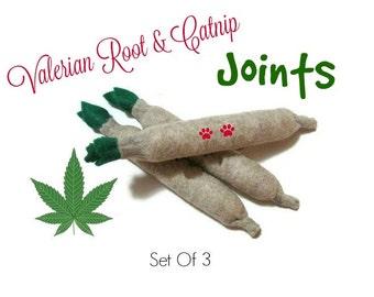 Cat Toys -  Valerian Root & Catnip Joints - Set Of 3