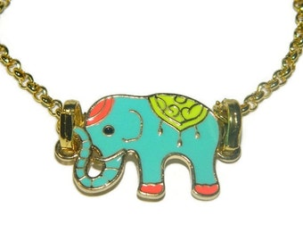 Lucky Elephant Necklace, The Kid Shop, Necklace With Elephant Pendant