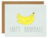 That's Bananas Blank Card