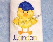 Boys Chick Easter Shirt, Easter Shirt or Bodysuit, Boys Tops, Baseball Hat Shirt