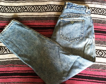 Vintage Distressed Guess Brand George Marchiano Design Denim Jeans