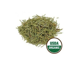 USDA Certified Organic Dried Whole Rosemary Leaf Rosmarinus Officinalis 1-16oz