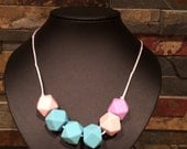 Silicone Teething and Nursing Necklace - Dash