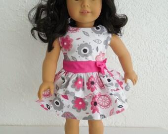 18 inch Doll Dress, Handmade, Fits American Girl Doll