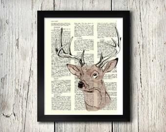 Buck - Decorative Art Print,Vintage posters,Drawing,print,poster,digital,wall decor,Gifts,Decorative Arts,illustration,Home Living