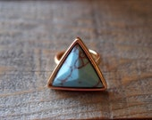 Triangle Turquoise Boho Fashion Ring