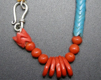 African Trade Snake Bead Necklace
