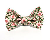 Christmas Bow Tie, Plaid Christmas Dog Bow Tie, Dog Bow Tie, Bowtie, Christmas Bow, Doggy Bowtie
